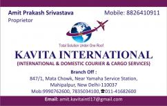 SHIPPING CARGO SERVICES- KAVITA INTERNATIONAL