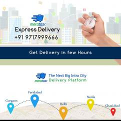 Intracity parcel delivery services by meratask