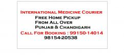 Allopathic Medicine Courier All Punjab Chandigarh to USA Canada UK Australia
