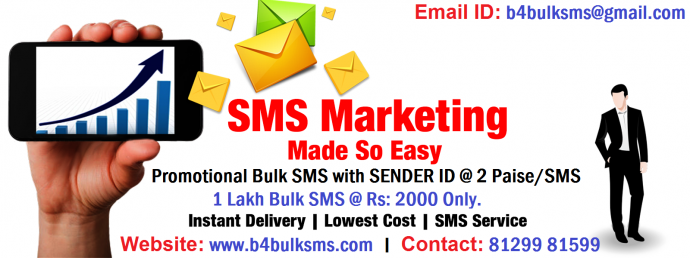 1 Lakh Promotional Bulk SMS with SENDER ID