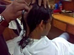 Headshave and haircut at doorstep in chennai