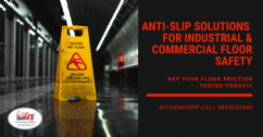 The first Anti-slip Safety Solution in india by Czar Lab Pvt Ltd - IGUANAGRIP