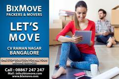 Packers Movers cv raman nagar, Bangalore