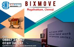 Bixmove packers and movers mugalivakkam, Chennai