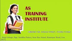 AS Training Institute - Banking, Insurance & Finance.
