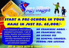 Preschool Set up with all equipments and Curriculum in just Rs. 65000/