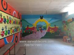 Amazing 3D wall painting in Hyderabad