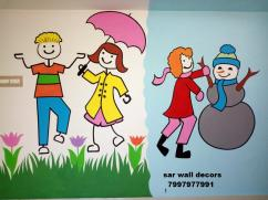 creative Ideas for play school painting in Hyderabad