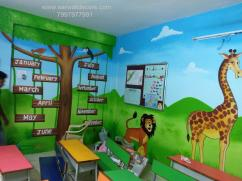 kids class Room wall painting in Hyderabad