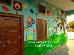 primary school wall Art painting in Hyderabad