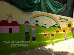 kids school Jungle theme wall painting in Hyderabad