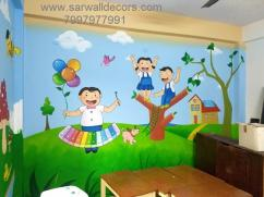Best play school wall Art painting in Hyderabad