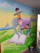 creative wall Art Design painting in Hyderabad