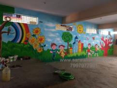 kinder Garden Art work painting in Hyderabad