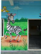 3D cartoon wall Art painting in Hyderabad