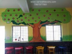 International school wall Art painting in Hyderabad