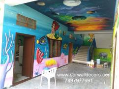 Nursery themed wall Art painting in Hyderabad