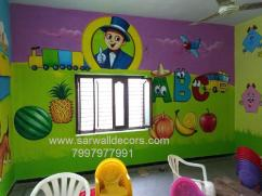 kids class Room wall Art painting in Hyderabad
