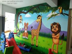 cartoon wall Art Design painting in Hyderabad