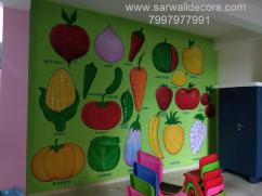 Nursery class Room wall Design painting in Hyderabad