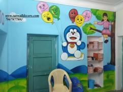 school class Room Jungle wall painting in Hyderabad