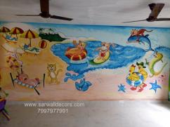 play school Animation wall painting in Hyderabad