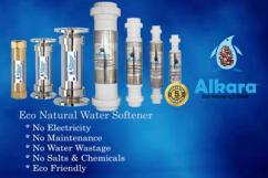 Natural water softener for swimming pools