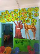 kids school class Room creative wall painting in Hyderabad