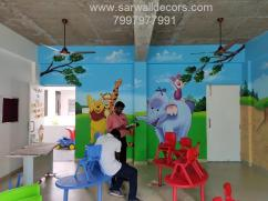 play school wall Art painting in Hyderabad