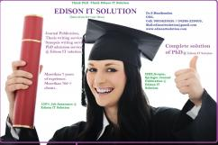 EDISON IT SOLUTIONS IS THE ONLY PLACE FOR YOUR COMPLETE PHD
