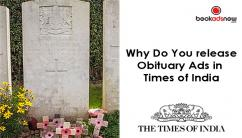 Book Obituary Ads in Times of India at Discounted Rates