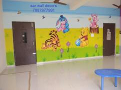 kids school 3d wall Design in Hyderabad