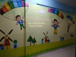 Educational themed wall Art Design in Hyderabad