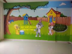 play school creative wall painting in Hyderabad