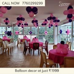 Balloon decor at Rs.1999