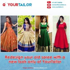 Redesign your old saree with a new look only at YourTailor