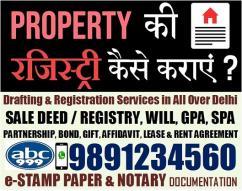 PROPERTY REGISTRATION AT SUB REGISTRAR OFFICE Call- 9891234560