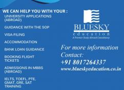 Looking to study abroad Blue Sky Education offers you solutions