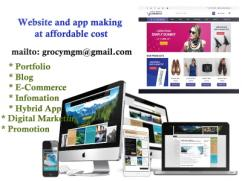 Website and mobile app making at affordable cost
