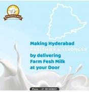 Organic and Pure Gir Cow Milk in Hyderabad , Organic and Pure Gir Cow Ghee in Hy