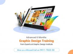 Advanced 6 Months Graphic Design Training from Experts