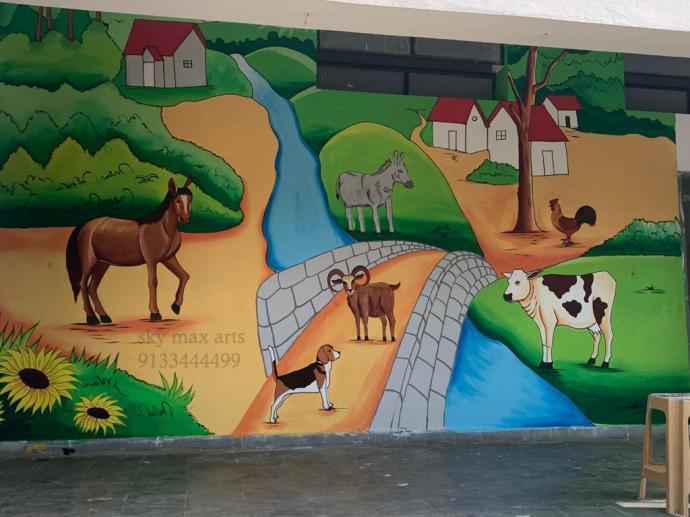 Pre Primary School Wall Painting Ideas In Hyderabad Hyderabad Zamroo