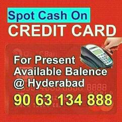 Cash on credit cards in madhapur-9063134888