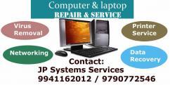 LAPTOP SERVICE IN AVADI  PATTABIRAM SEKADU JP SYSTEMS 9941162012
