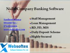 Nidhi banking software in India, Nidhi Company software