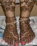 Latest Bridal Leg Mehandi in Delhi