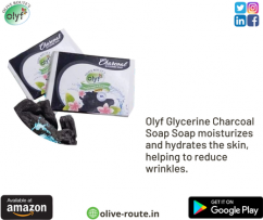 Olyf Glycerine Charcoal Soap 100gm