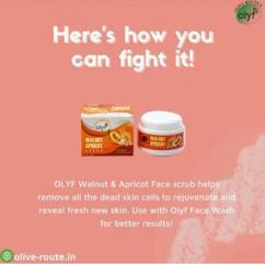 OLYF Walnut Apricot Face scrub