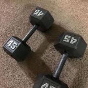 Very Less Used Dumbbells In Good Condition