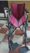 Foldable steel Wheelchair